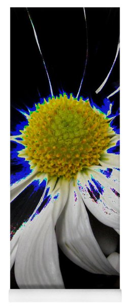 Art. White-black-yellow Flower 2c10  Yoga Mat
