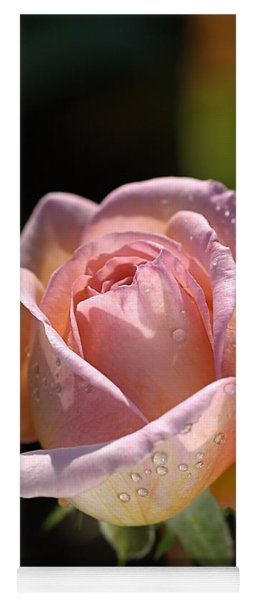 Flower-pink And Yellow Rose-bud Yoga Mat