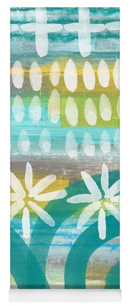 Flowers And Waves- Abstract Pattern Painting Yoga Mat