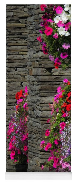 Flowers At Liscannor Rock Shop Yoga Mat