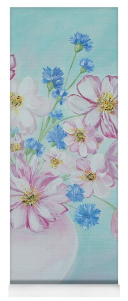 Flowers In A Vase. Inspirations Collection Yoga Mat