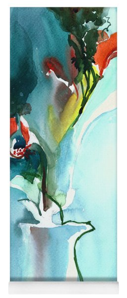 Flowers In Vase Yoga Mat
