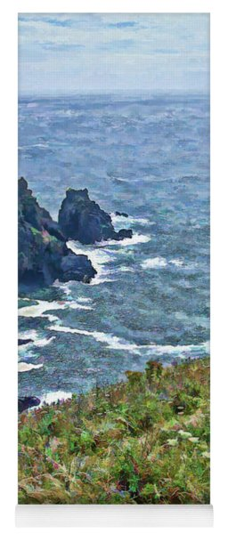 Flowers On Isle Of Guernsey Cliffs Yoga Mat