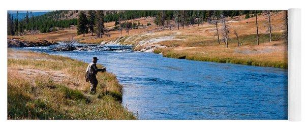 Fly Fishing In Yellowstone  Yoga Mat