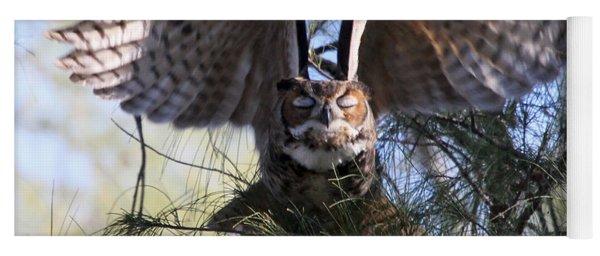 Flying Blind - Great Horned Owl Yoga Mat