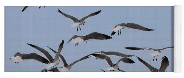Flying Gulls  Yoga Mat