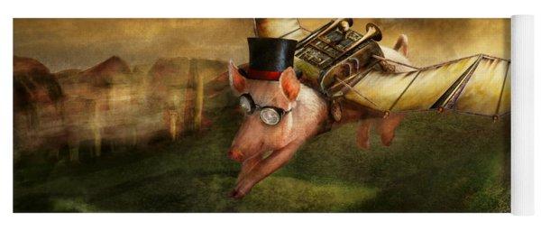 Flying Pig - Steampunk - The Flying Swine Yoga Mat