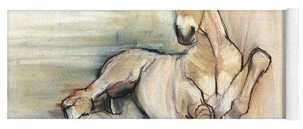 Foal, 2012, Charcoal Conté And Pastel On Paper Yoga Mat