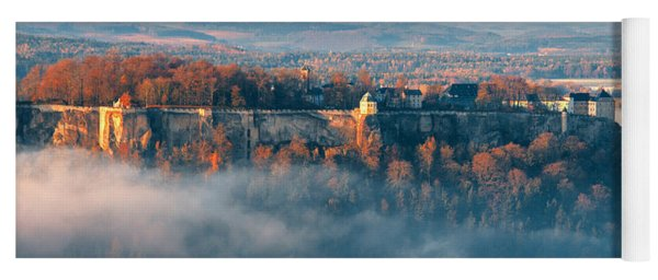 Fog Around The Fortress Koenigstein Yoga Mat