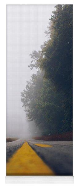 Fog On Highway Yoga Mat