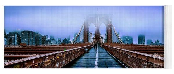 Fog Over The Brooklyn Yoga Mat