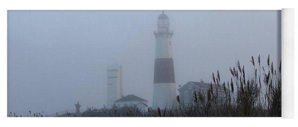 Foggy Montauk Lighthouse Yoga Mat