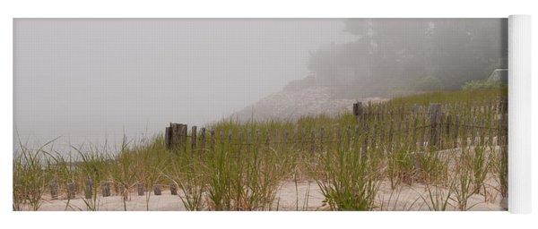 foggy morning on Chatham beach Yoga Mat