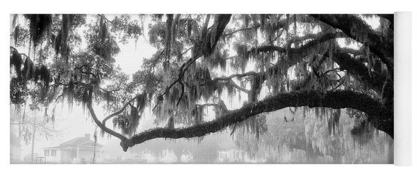 Foggy Morning On Coosaw Plantation Yoga Mat