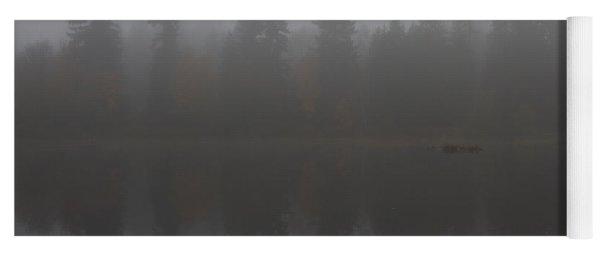 Foggy Morning On The Lake Yoga Mat