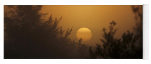 Foggy Sunrise Yoga Mat