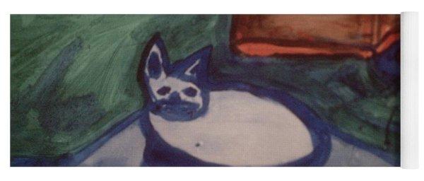 Folk Art Cat Yoga Mat