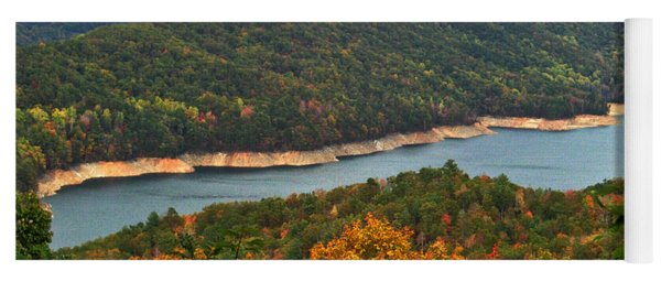 Fontana Lake In Fall Yoga Mat
