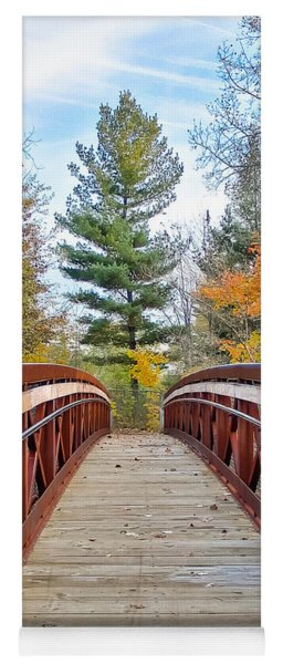 Foot Bridge In Fall Yoga Mat