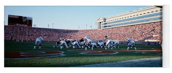 Football Game, Soldier Field, Chicago Yoga Mat