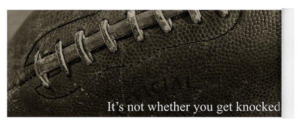 Football Get Up Yoga Mat