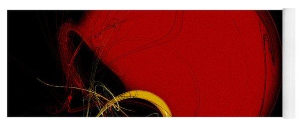 Football Helmet Red Fractal Art 2 Yoga Mat