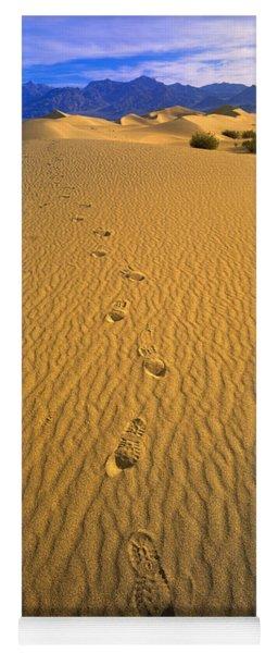 Footprints, Death Valley National Park Yoga Mat