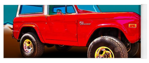 Ford Bronco Classic From Vivachas Hot Rod Art Yoga Mat