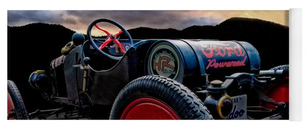 Ford Model T Racer Beat The Storm Home Yoga Mat