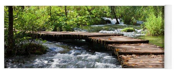 Forest Stream Scenery Yoga Mat