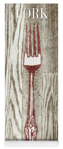 Fork And Spoon On Wood I Yoga Mat