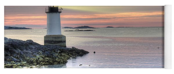 Fort Pickering Lighthouse At Sunrise Yoga Mat
