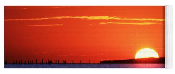 Fort Story Sunrise Yoga Mat