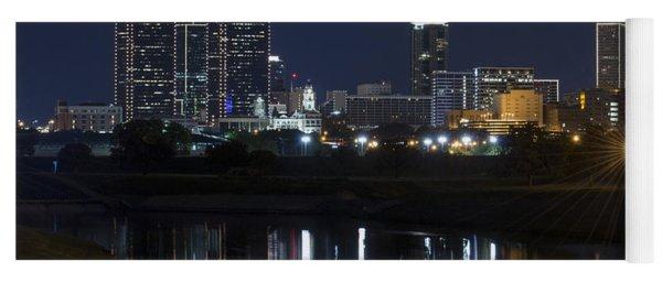 Fort Worth Skyline Super Moon Yoga Mat