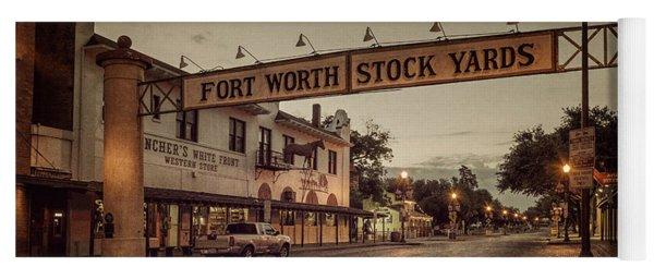 Fort Worth Stockyards Yoga Mat