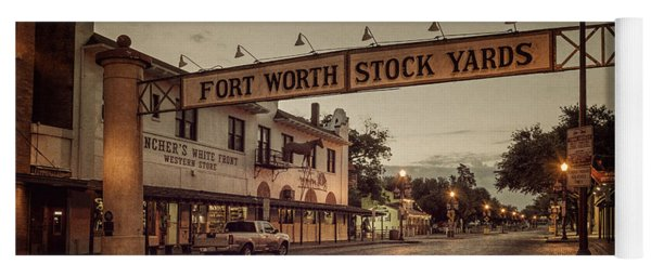 Fort Worth Stockyards Yoga Mat