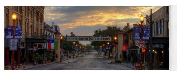 Fort Worth Stockyards Sunrise Yoga Mat