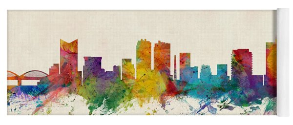 Fort Worth Texas Skyline Yoga Mat