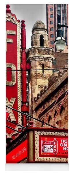 Yoga Mat featuring the photograph Fox Theater - Atlanta by Robert L Jackson