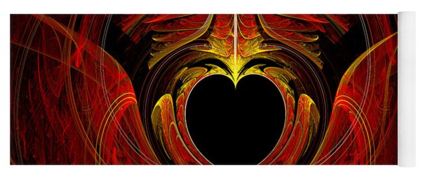 Fractal - Heart - Victorian Love Yoga Mat