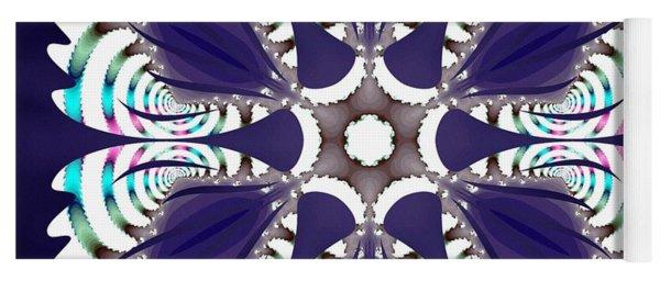 Yoga Mat featuring the digital art Fractal Snowcaps by Derek Gedney