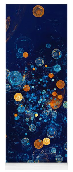 Fractal Soapbubbles - Abstract In Blue And Orange Yoga Mat