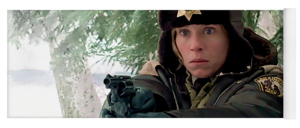 Frances Mcdormand As Marge Gunderson In The Film Fargo By Joel And Ethan Coen Yoga Mat