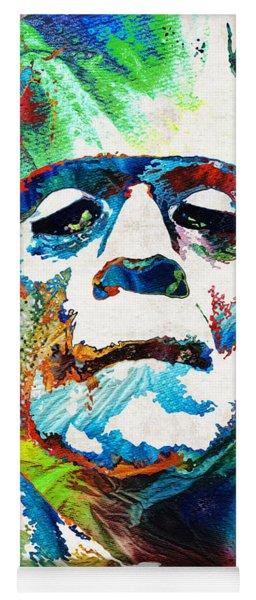 Frankenstein Art - Colorful Monster - By Sharon Cummings Yoga Mat