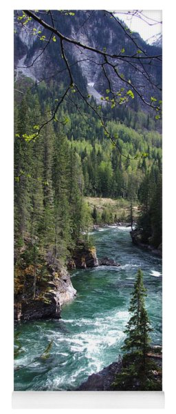 Fraser River - British Columbia Yoga Mat
