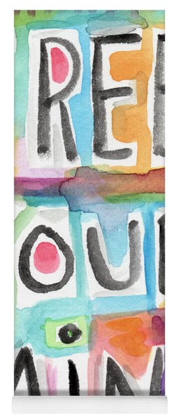 Free Your Mind- Colorful Word Painting Yoga Mat