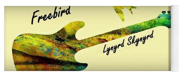 Yoga Mat featuring the painting Freebird Lynyrd Skynyrd Ronnie Van Zant by David Dehner
