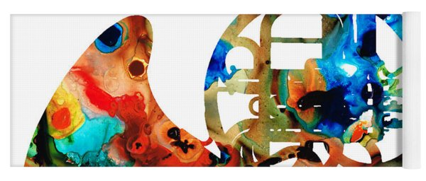 French Horn - Colorful Music By Sharon Cummings Yoga Mat