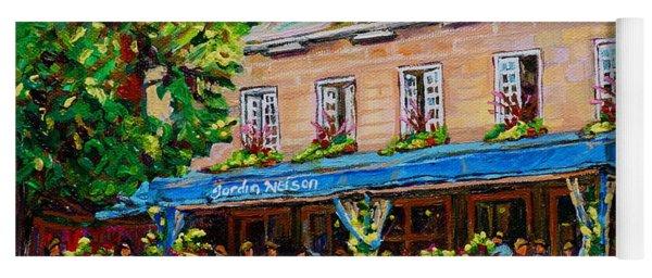 French Restaurant Jardin Nelson Paris Style Bistro Place Jacques Cartier Terrace Garden C Spandau   Yoga Mat
