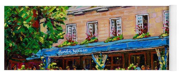 French Restaurant Jardin Nelson Paris Style Bistro Place Jacques Cartier Terrace Garden C Spandau   Yoga Mat